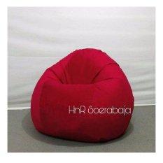 Kursi santai Bean Bag Oval - Red (Cover only) / furniture / kursi pantai