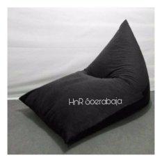 Kursi santai bean bag triangel - Jet Black (Cover only) / kursi pantai / furniture