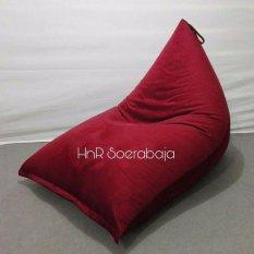 Kursi santai bean bag Triangel - Red (Cover only) / sofa / kursi pantai