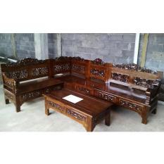 Kursi Sudut Ukir kayu Jati Bagong Rahwana