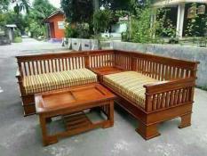 Kursi Tamu Sudut Minimalis Jati Mebel Furniture Jepara