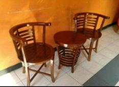 Kursi Teras Jati Cantik Tabung/Kursi Tamu Minimalis/ Mebel Furniture Jepara Jakarta.