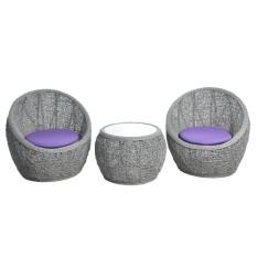 Kursi Teras Telur Style - Grey - Khusus Jabodetabek