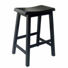 Kursi tinggi Bar Stool - bangku kayu bar KD- desain elegance - hitam