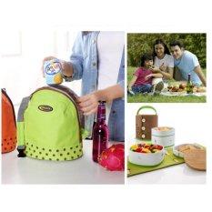 Kwalitas Bagus Cooler Bag IMPORT Tas Bekal AC 045 (Orange)
