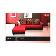 Saga Sofa - L. Red Sofa (Khusus Kota Medan Saja + Free Ongkir)