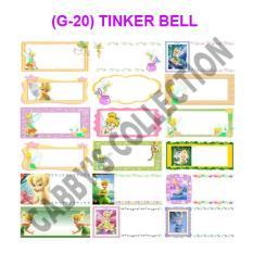 Label Nama Tinker Bell Tipe G (Kode: G-20)