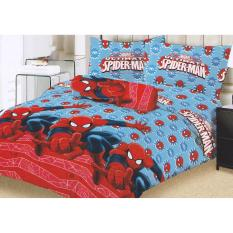Toko Lady Rose Spiderman Sprei Set 160X200X20Cm Bantal 2 Lady Rose Indonesia