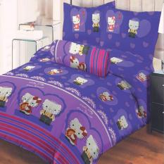Spesifikasi Lady Rose Sprei King Motif Kitty Daniel Purple 180X200 Cm Lady Rose Terbaru