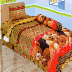 Beli Lady Rose Sprei Single Motif Bear 120X200 Cm Cicilan