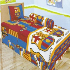 Jual Beli Online Lady Rose Sprei Single Motif Fc Barcelona 120X200 Cm