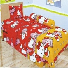 Lady Rose Sprei Single Motif Hellokitty Red 120X200 Cm Original