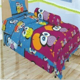 Toko Lady Rose Sprei Single Motif Owl 120X200 Cm Termurah Indonesia