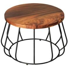 Lahat  meja tamu coffee table kayu jati besi unik industrial modern PROMO TERLARIS