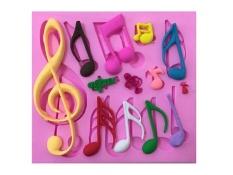 Spesifikasi Lalang 3D Cornet Musik Catatan Cetakan Silikon Kue Pastry Fondant Cetakan Tatakan Dekorasi Pink Intl Online