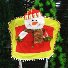 Penutup Kursi Dekorasi Natal Hadiah Ornamen Manusia Salju (aneka Warna) LALANG