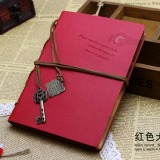 Promo Toko Lalang Retro String Key Blank Diary Notebook Journal Sketchbook Red
