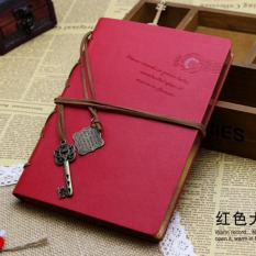 Promo Lalang Retro String Key Blank Diary Notebook Journal Sketchbook Red Lalang Terbaru