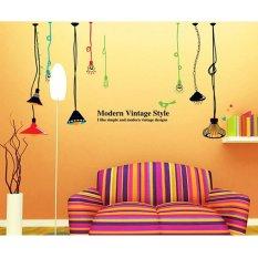 Lampu Chandelier Bahasa Inggris Letter Wall Sticker Decal Home Decor PVC Mural Wallpaper House Art Gambar Ruang Tamu Senior Dewasa Remaja Anak-anak Kamar Tidur Dekorasi-Intl