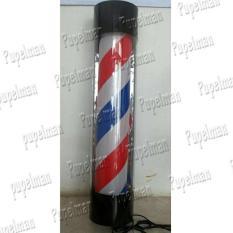 60cm Lampu BarberShop Kecil Bulb Bohlam Lampu Tukang Cukur Lampu Barber Shop Gerak Putar Berputar Lampu Pangkas Rambut Lampu Pole