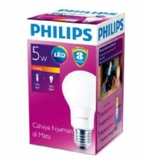Lampu Bohlam Bulb LED Philips 5W - Warm White Kuning - 5 Watt