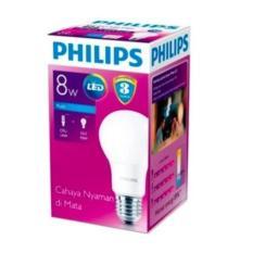 Lampu Bohlam Bulb LED Philips 8W - Cool Day Light Putih - 8 Watt