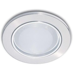 Lampu Ceiling Downlight Philips Glass Recessed 13801 Nikel