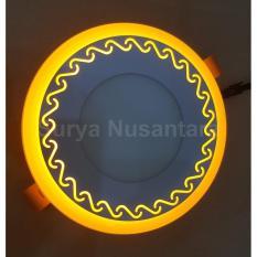 Lampu Ceiling Led Kawachi Motif Ombak 18W Tanam Plafon 2 Warna Cahaya