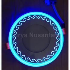 Lampu Ceiling Led Kawachi Motif Ombak 6W Tanam Plafon 2 Warna Cahaya