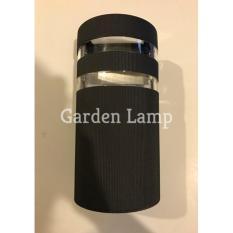 Lampu Dinding Minimalis- Lampu Taman Outdoor - Setengah Oval -LD 011