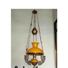 Lampu Gantung Klasik / Antik / unik R28 Kuning Kap Bergelombang