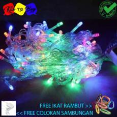 Lampu Hias Lampu Natal Dekorasi LED Tumblr 10m + Colokan Sambungan Free ikat Rambut Klik to