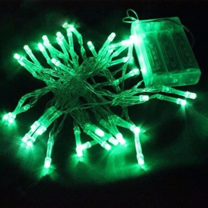 Lampu Hias LED Natal Baterai A2 4 meter 40 LED - Hijau