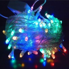 Lampu Hias Natal LED RGB (Red+Green+Blue+Yellow) 10 Meter + Colokan sambungan