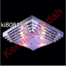 LAMPU HIAS PLAFON LED BOHLAM CRYSTAL E27 DINDING KI8081 3WARNA GANTUNG