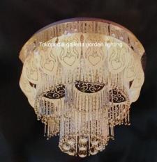 lampu hias plavon kristal dekorasi ruang tamu minimalis 9101/60CM