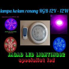 Lampu Kolam Renang RGB Warna Warni 12 Watt Paket Komplit Satu Set Adaptor & Remote Control
