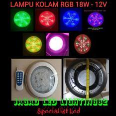 Lampu Kolam Renang Warna Cahaya RGB DC 12V - 18W Satu Set Komplit Remote Control & Adaptor Outdoor