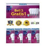 Harga Lampu Led Bohlam Philips 10 5W Watt Beli 3 Gratis 1 Putih Original