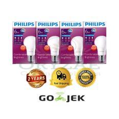Lampu LED bohlam Philips 5w/watt beli 3 gratis 1 Putih