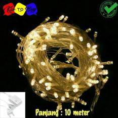 Lampu LED Cantik Dekorasi Acara Pesta Dan Hias Tumblr Natal Twinkle Light 10 Meter FULL Plus Colokan Sambungan