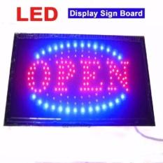 lampu led papan tulisan Open untuk counter toko rumah makan dll
