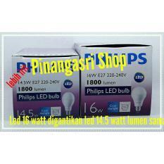 Lampu LED Philips 14 Watt 14W  Philip Putih 14.5 W Bulb LED 14Watt Pengganti  16W 16 W 18 Watt New