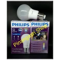 Lampu LED Philips 8 Watt 8W Philip 8 W 8Watt Putih PENGGANTI Bohlam 9 Watt 9W Bulb 9 W SINGLE New