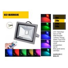 Lampu Led Sorot 20 watt rgb  remote  Tembak / Panggung / Outdoor / Taman / Lapangan 20 Watt