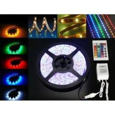 Lampu Led Strip RGB /Led 5050 ip 65 Mata Besar Lampu Roll Led Strip Rgb Set Adaptor,remote,rgb control