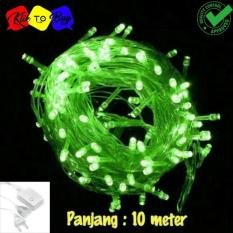 Lampu LED Tumblr / Lampu Hias Natal LED 10m + Colokan - Green/Hijau