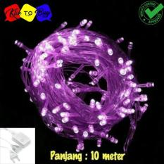 Lampu LED Tumblr / Lampu Hias Natal LED 10m + Colokan - Violet/ungu