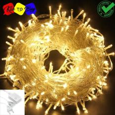 Lampu LED Tumblr / Lampu Hias Natal LED 10m + Colokan - Warm White