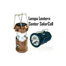 Lampu LED Tenaga Surya Lentera Tarik Mini Cocok Untuk Camping / Lampu Emergency Jika Listrik Padam / Listrik Mati Senter LED/ Lentera Tarik Solar + Power Bank